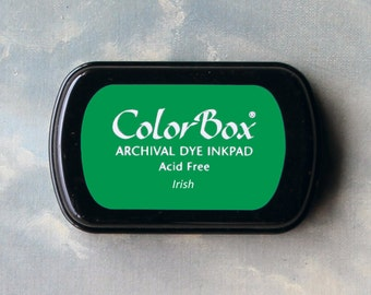Green Stamp Pad (Irish) // Archival ink // ColorBox