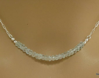 Aquamarine Necklace in Sterling Silver