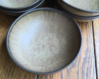 Denby England Romany Brown 7 Cereal Soup Bowls