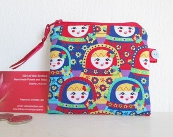 Haf Price Sale Russian Doll Coin  Purse