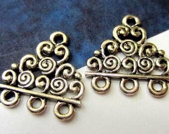 8 Antique  silver Earring dangles boho gypsy earring dangles hippie jewelry findings 18mm x 18mm bohemian silver diy jewelry supply(G1)