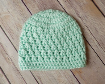 Baby Hat, Crochet Baby Beanie, Simple Baby Hat, Newborn Baby Hat