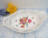 "Bavarian Dresden-Style Reticulated 12"" Serving Bowl"
