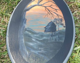One of a Kind Painting, Landscape Painting, Home Decor, Plaque