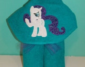 My Little Pony Hooded Bath Towel Vacation Pool Full Size Birthday Christmas Made in USA MLP Rainbow Dash Twilight Sparkle Rarity Pinkie Pie