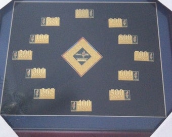 1996 Olympic Games Framed Countdown Pin Set