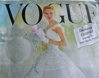 RARE * Vogue Designer Original Pattern - Chantilly Dress and Petticoat * Size 15, bust 35 * FACTORY FOLDED