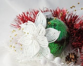 Green, White and Gold Christmas Ornament