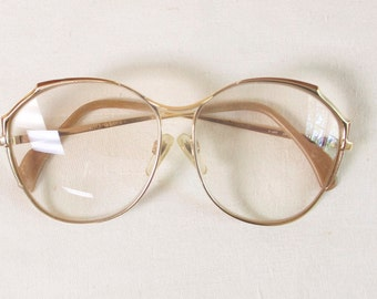 Vintage Merzler Women's Oversized Large Sunglasses or eyeglasses metal frame