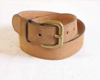 Vintage brown womens Leather Belt size 30
