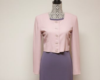 Vintage 1980s women's Pink Blazer Jacket by Barami size 4