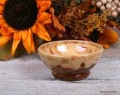 Ceramic Ring Holder. Trinket Bowl. Hand Thrown Ceramic Bowl. Fall Home Decor