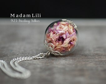 925er Sterling Silver True Dry Blossoms Necklace
