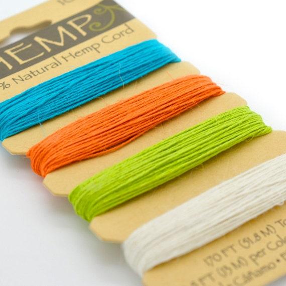 Colored Hemp Twine, 10lb, 0.5mm,  Hemp Card, Hemp  Jewelry  Twine, Hemp Goods -HC72