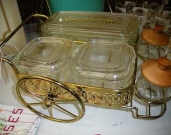"Vintage Karoff Original ""Red Hots"" Food Wagon Condiment Serving Dish"