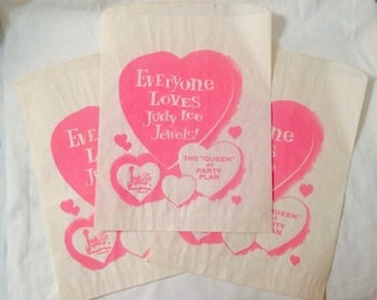 Judy Lee Jewels Gift Paper Bags - Vintage early 1960s - set 3
