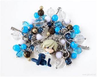 Fai D Flowright Charm Bracelet, Anime Character Bracelet, Stainless Steel Chain Bracelet, Anime Jewelry, Tsubasa Chronicle