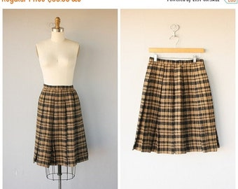 25% OFF SALE... Vintage 1950s Skirt | 50s Skirt | Vintage 1950s Wool Skirt | Vintage 50s Skirt | Pleated Skirt | Mr. Mort Skirt