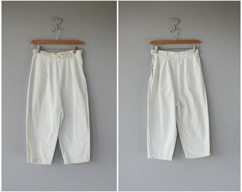 Vintage 1950s Capri Pants | 50s Cropped Pants | 60s Pants | 1960s Cropped Pants | 60s Capri Pants