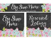 Etsy Shop Banners - Etsy Banners - Floral Etsy Banners - Spring Etsy Shop Banners - Etsy Banner Sets - 3 Piece - Betsy