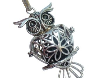 YOur perSOnal STYlish Essential oil necklace diffuser Steampunk owl d2 0