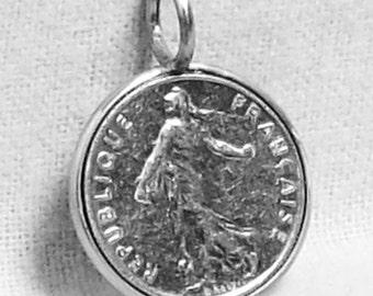 France Coin Pendant (E-899)