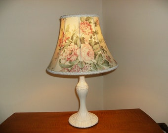 Table Lamp with Floral Lampshade