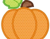 Pumpkin Machine Embroidery Applique Design
