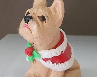 Christmas French Bulldog figurine