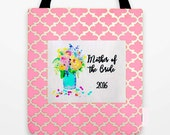 Mother of the Bride Bag, Customized and personalized, Wedding Gifts, Bridesmaid Gifts, Large Tote Bag, Wedding party tote bag, matching bags