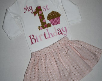 hearts pink and gold girls first birthday outfit glitter 1st birthday outfit cake smash girl glitter gold one 1st birthday bodysuit skirt