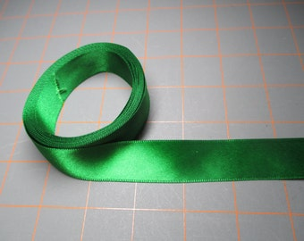 7 Yards of Ribbon - 7/8 inch wide - Green