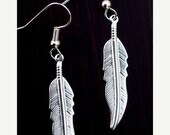 SALE SILVER FEATHER Earrings - Larger size