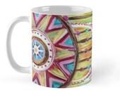 Catching Dreams // Coffee Tea Hot Cocoa Mug with Dreamcatcher Art