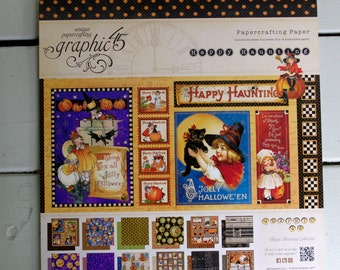 Graphic 45 Happy Haunting 12x12 RETIRED Paper Pad