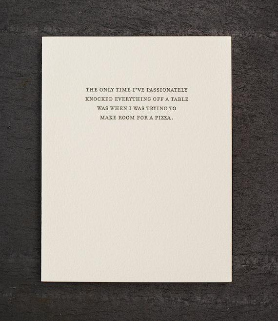 make room. letterpress card. #815