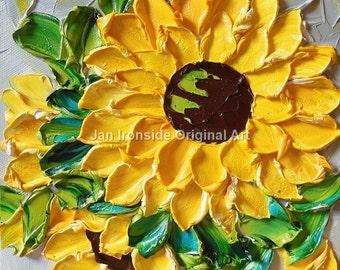 Sunflower painting, Home and Living , Home Decor , Jan Ironside , Sunflower , Fine art