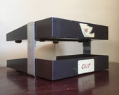 Vintage Two-Tiered Heavy Duty Desk Paper File Organizer.