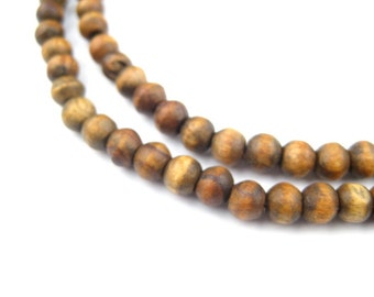 100 Vintage-Style Round Olive Wood Beads from Bethlehem - Jerusalem Olive Wood - Olive Wood ...