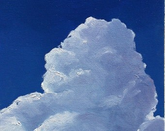 Storm Brewing, 8 x 10 inches (20 x 26 cm) original oil painting by Yvonne Wagner. Clouds. Storm. Himmel. Nuages. Wolken.