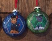 Paw Patrol Christmas ornaments. Set of 4