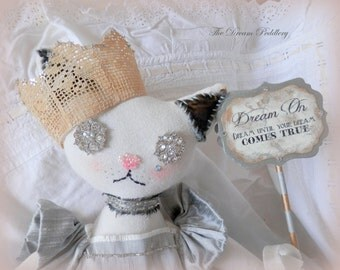 Tippi Kitty Doll. Hand Crafted Cloth Doll