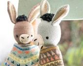 Crochet Amigurumi Donkey Pattern. Ramón Donkey.