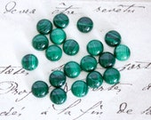 Round Malachite Cabochons - 6mm, or 8mm Loose Semi-Precious Gemstones