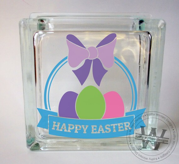 vinyl lettering for glass vinyl lettering glass block decal happy easter by 15847