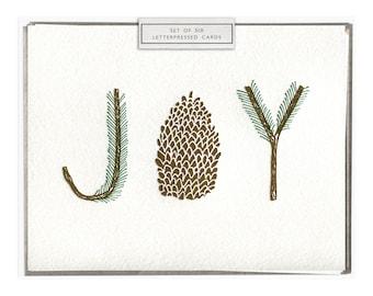 JOY letterpress card - set of six