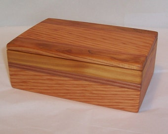 Handcrafted Reclaimed Wood Box Three Wood Mix