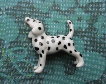 dalmatian figurine vintage spotted dog miniature dog figure mini fireman's dog
