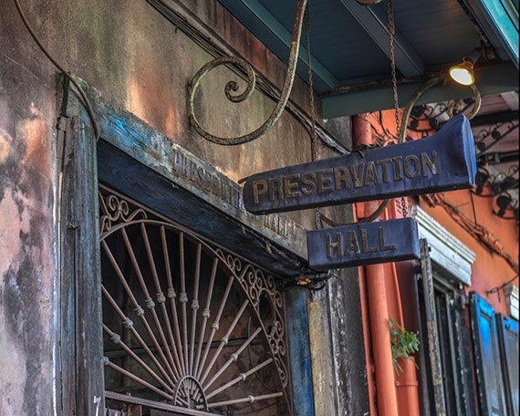 Jazz Sign New Orleans Home Decor Preservation Hall Music
