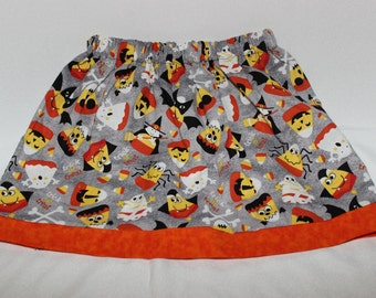 Candy Corn Halloween Skirt, 6 months -7/8, Girls,